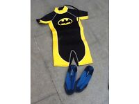Child Wetsuit and Wet Shoes