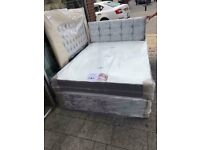 Crush velvet divan bed bought wrong size