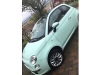 Fiat 500 lounge 1.2 - mint green. Full service history, Bluetooth, air conditioning, start stop