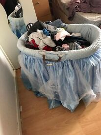 Blue Moses basket