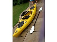 "Exuinox Xtreme 10'4"" kayak light easy to paddle ideal for beginners and for lakes ponds and canals."