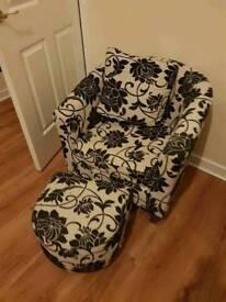 Cream & Black chair