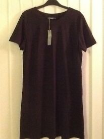 BLACK TUNIC DRESS - BRAND NEW WITH TAGS
