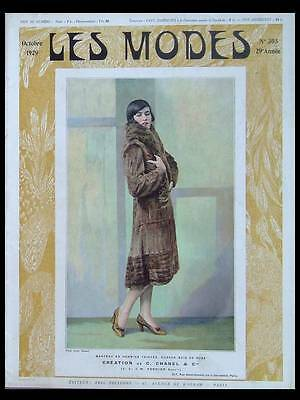 LES MODES 1929 - FRENCH FASHION MAGAZINE - CHANEL, DRECOLL, PREMET, PARAY