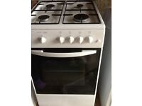 Freestanding Beko gas stove. 4 gas burners, grill and oven.