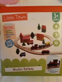 Wooden Train Set - 35 piece
