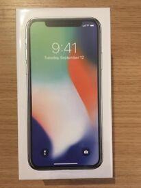 Brand New Sealed - Unlocked - iPhone X 256GB -Silver