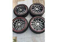 FOR SALE 4 stud multi stud 17in wolfrace alloy wheels 205/40 ZR/17