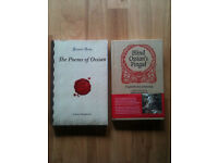 2 New Scottish Poetry Books - The poems of Ossian by James Macpherson & Blind Ossian's Fingal
