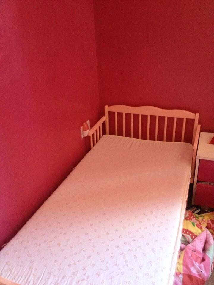 Pink toddler bed