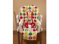 Red Kite - Deli Hi Lo Chair - Red Apples design - Condition as New