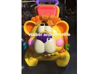 Walker and sit in ride lion