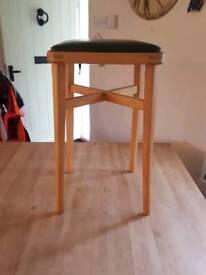 Lovely green wooden retro stool