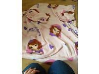 frozen and sofia blanket