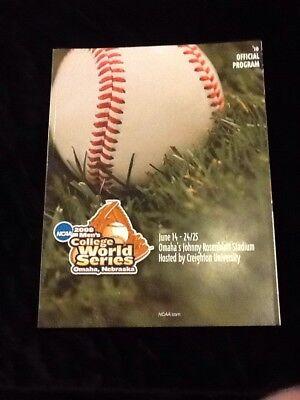 - 2008 College World Series Program Omaha CWS