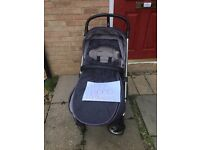 Mamas and Papas Sola 2 MTX Denim Pram/Pushchair