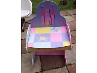 girls pink desk good condition only £7.00