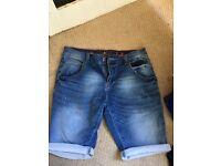 Crosshatch Jean shorts