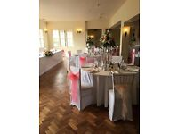 Venue Styling FREE CENTERPIECE per every 10 CHAIR COVERS (from £1)!!! BALLOONS!LONDON / ESSEX / KENT
