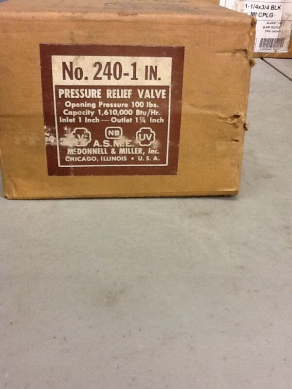 McDonnell & Miller No. 240-1 IN Pressure Relief Valve