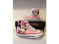 Mini Mouse Disney converse shoes trainers