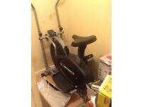 Cross trainer/ exercise bike for sale