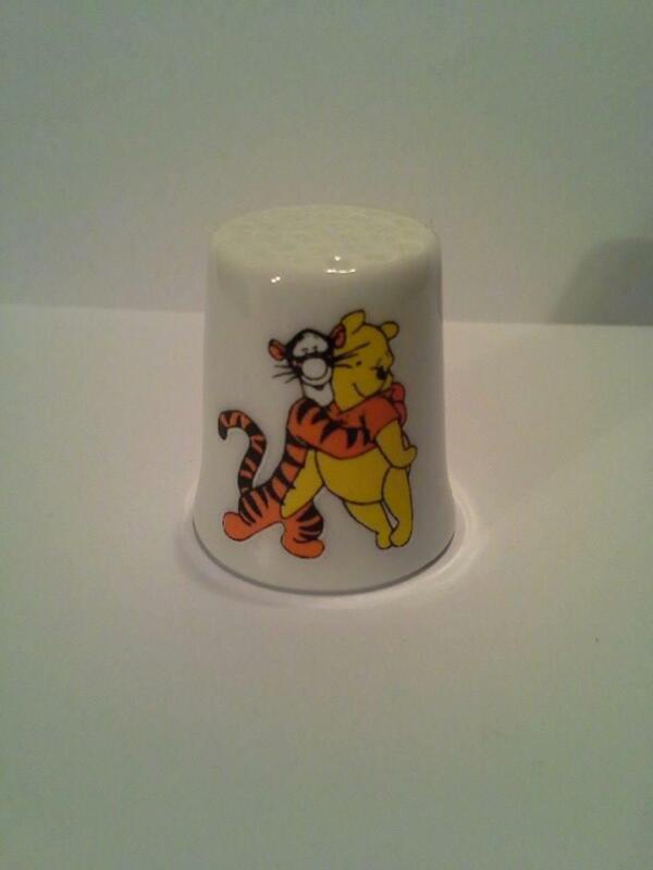 Up4Bid Winnie The Pooh & Tigger Hugs Collectible Porcelain Thimble