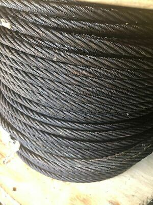 38 Dia. Improved Plow Steel Bright Wire Ropewench Cable Uncoated By The Foot