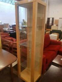 Tall Wooden Glass Display Cabinet