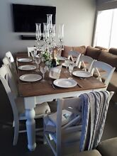 STUNNING FRENCH PROVINCIAL HAMPTON'S DINING TABLE & 8 CHAIRS!!! Casuarina Kwinana Area Preview