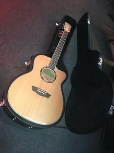 Washburn AG40CEK Apprentice Series 6 String Acoustic Electric Guitar in Natural