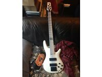 K5 White limited edition Bass Guitar