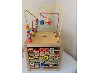 Large wooden activity cube £15 collection from Shepshed