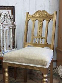 Gold accent Louis XVI chair