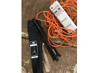 Tent camping electric hookup stand