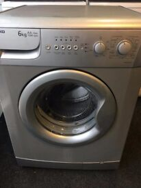 Silver 6kg 1500 spin washing machine