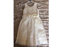 Two Beautiful Ivory Flowergirl Dress - First is Age: 6 (£28) - Second is Age:2 (£15)