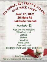 5th annual BLT gives back craft fair (Timberlea)