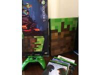 xbox one s 1tb minecraft limited edition console with two games, game pass, live gold