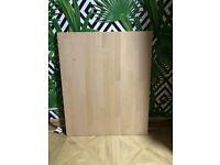 New natural solid wood Beech kitchen worktop offcut 760 X 620 X 27mm