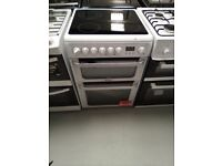 HOTPOINT Ultima 60 cm Electric Ceramic Cooker - White Ex display (12 months Warranty )