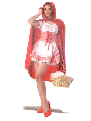 Red Riding Hood Hooded Cape Costume Accessory Fairy Tale Vampire Women's Cosplay - Red Hooded Cape Costume