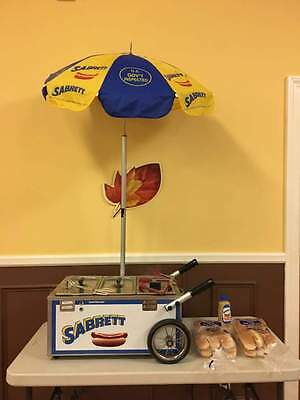 SABRETT HOT DOG TABLE TOP CART NEW FROM AUTH. (Hot Dog Topping)