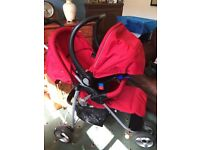 Lovely Red Petite Star Travel System
