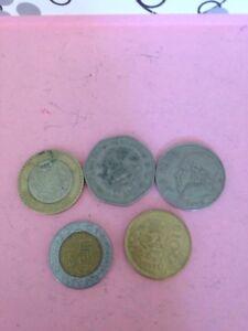 5 peso coins