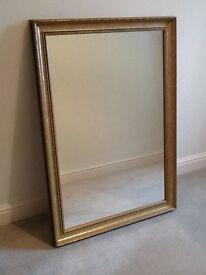 gold framed mirror - 71 cm by 102 cm £10