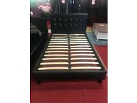chelsea jewel 4ft small double bed frame black brand new