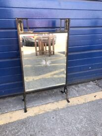ARTS AND CRAFTS MIRRORED FIRE SCREEN - ANTIQUE VINTAGE RETRO