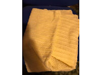 "Baby blanket hand made yellow 41"" x 39"""