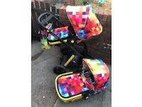 cosatto giggle 2 pixel pram pushchair pls read